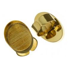 100% Brass Handmade Bezel, Oval Ring, 30 x 20mm
