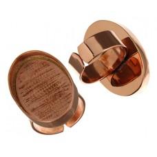100% Copper Handmade Bezel, Oval Ring, 30 x 20mm