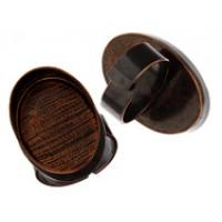 100% Antique Copper Handmade Bezel, Oval Ring, 30 x 20mm