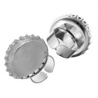 Silver Cast Handmade Bezel, Bottle Cap Ring, 32 x 6.65mm