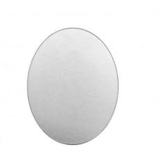 "Premium 16ga Aluminium Oval Blank, 1/2 x 3/4"", Pack of 8"