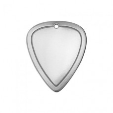 "Premium 16ga Aluminium Border Guitar Pick, 1 1/4 x 3/4"", Pack of 2"