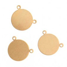 24ga Brass Circle Tag, 16mm, Pack of 2