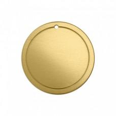 "ImpressArt 18ga Brass Border Circle, 1 1/4"""