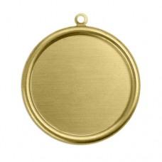 "ImpressArt 24ga Brass Circle with Bezel, 1 1/2"""
