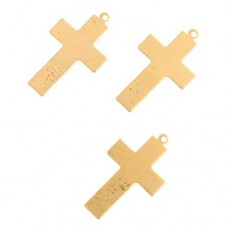24ga Brass Cross 16 x 25mm, Pack of 2