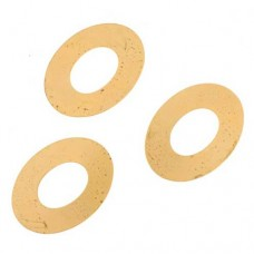 24ga Brass Oval Washer, 38mm, Pack of 2