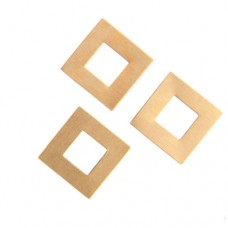24ga Brass Square Washer, 17mm, Pack of 2