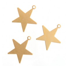 24ga Brass Star, 25mm, Pack of 4