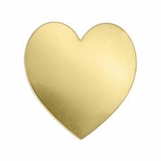 """ImpressArt 24ga Brass Heart, 1 1/2"""""""