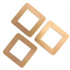 24ga Brass Square Washer, 30mm, Pack of 2