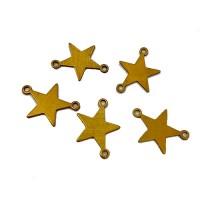 Mini Brass Star Blanks, 18mm, Pack of 5