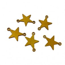 Mini Brass Star Blanks, 18mm, Pack of 5