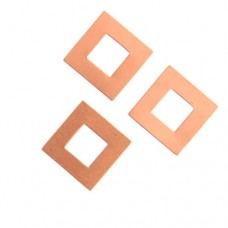 24ga Copper Square Washer, 17mm, Pack of 2