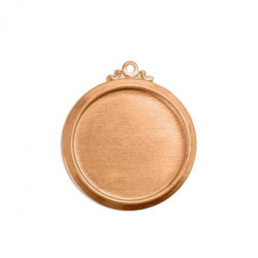 "ImpressArt Circle with Bezel Copper Blank, 7/8"", 24 Gauge"