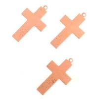 24ga Copper Cross, 16 x 25mm, Pack of 2