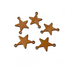 Mini Copper Star Blanks, 18mm, Pack of 5