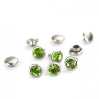 ImpressArt Light Green Czech Rivet, 6mm, 5 Pcs