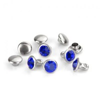 ImpressArt Royal Blue Czech Rivets, 6mm, 5 Pcs
