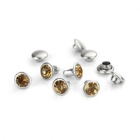 ImpressArt Light Topaz Czech Rivets, 6mm, 5Pcs