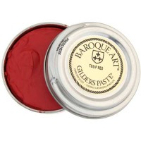 Gilders paste - a wax based product for applying colour to textured and rough surfaces.