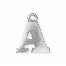 """Letter Charm A, Pewter, 3/4"""" (19mm)"""