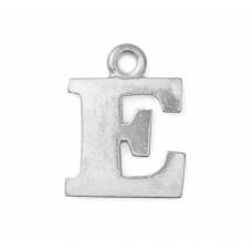 "Letter Charm E, Pewter, 3/4"" (19mm)"