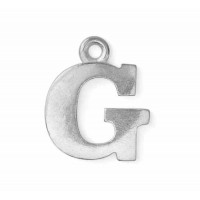 "Letter Charm G, Pewter, 3/4"" (19mm)"