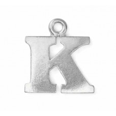 "Letter Charm K, Pewter, 3/4"" (19mm)"