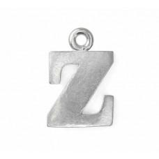 "Letter Charm Z, Pewter, 3/4"" (19mm)"