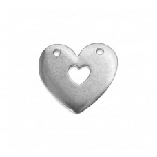 "Pewter Cut Out Heart, 1"" Blank"