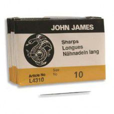 Size 10  John James English Beading Needles - Sharps - pack of 25