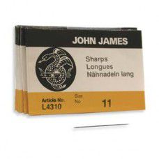 Size 11  John James English Beading Needles - Sharps - pack of 25