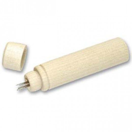 58mm Wooden Flush Lid Needle case, pack of 2