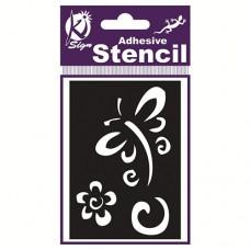 Spraycraft Adhesive Stencil (Dragonfly & Flower)