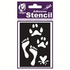Spraycraft Adhesive Stencil (Foot Steps)