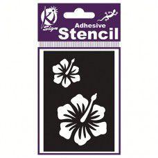 Spraycraft Adhesive Stencil (Hibiscus)