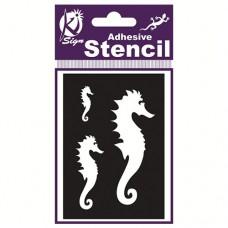 Spraycraft Adhesive Stencil (Sea Horse)