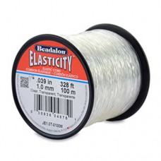 1 mm Clear Round Elasticity, 100m reel