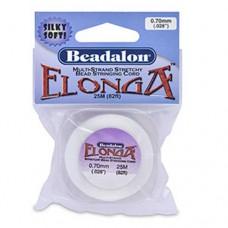 Elonga Elastic Thread, White, 0.7mm, 25M