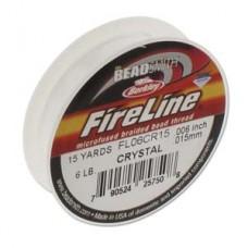 Fireline Thread, 6lb Crystal Clear 15yd 0.006 inch diameter