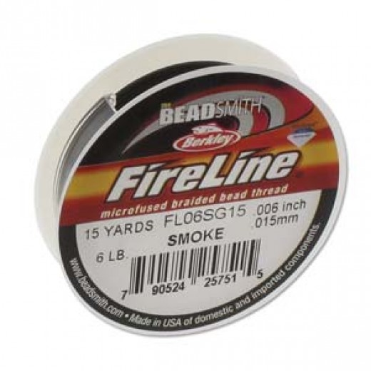 Fireline Thread, 6lb Smoke Grey 15yd 0.006 inch diameter