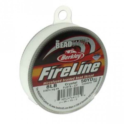 Fireline Thread, 8lb Crystal Clear 50yd 0.008