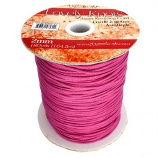 Strawberry Pink 2mm Knotting Cord,5 metre length