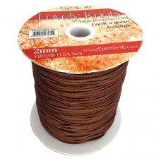 Light Chocolate 2mm Knotting Cord,5 metre length