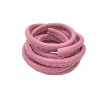 3 x 10mm Nappa Leather, Bubblegum Pink, 1 Metre