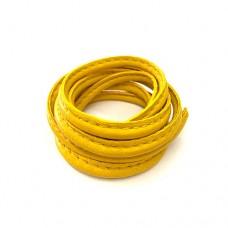 3 x 10mm Nappa Leather, Mustard Yellow, 1 Metre