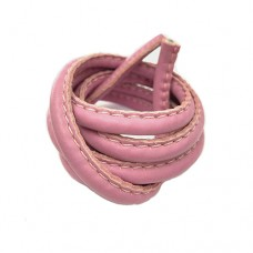 5 x 10mm Nappa Leather, Bubblegum Pink, 1 Metre