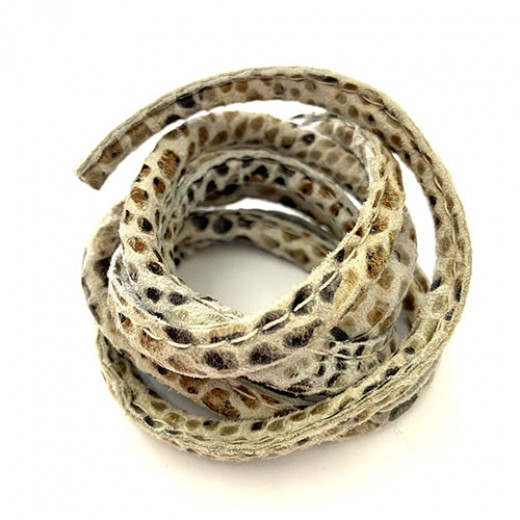 5 x 10mm Nappa Leather, Natural Snakeskin, 1 Metre