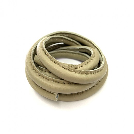5 x 10mm Nappa Leather, Taupe, 1 Metre